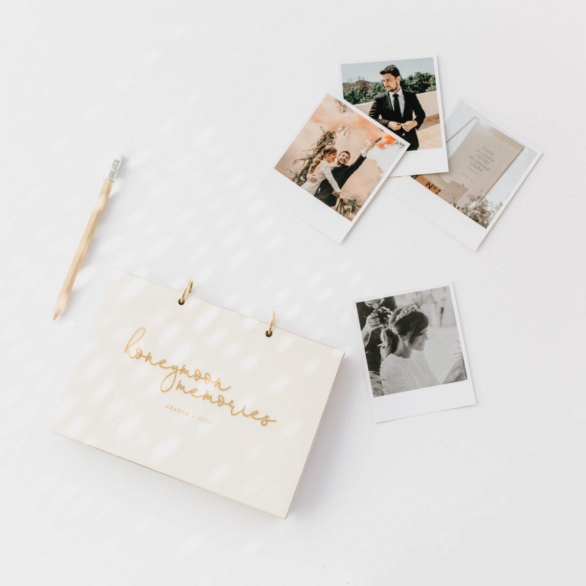 Álbum de boda personalizado de madera
