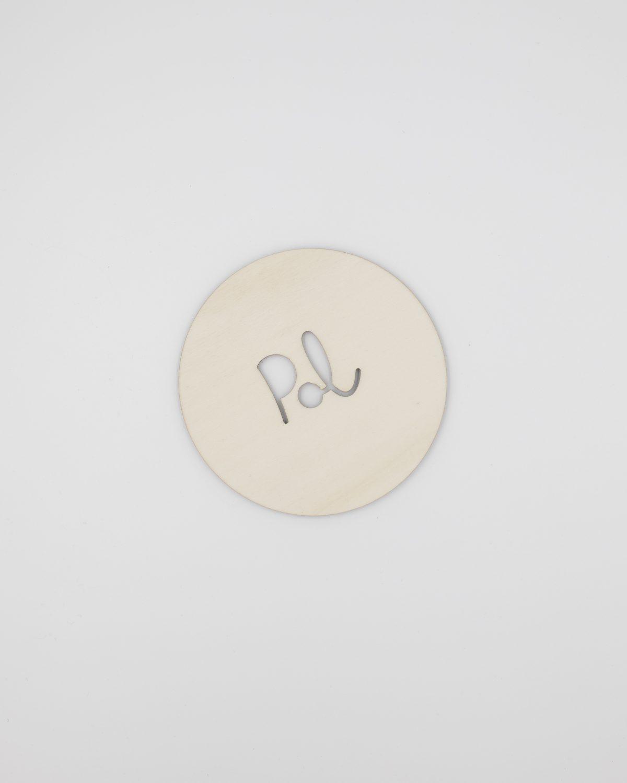 Placa redonda con nombre personalizado vacío